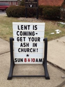 get your ash to church