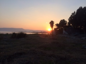 Sunset galilee