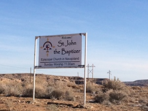 st. john the baptizer, sign