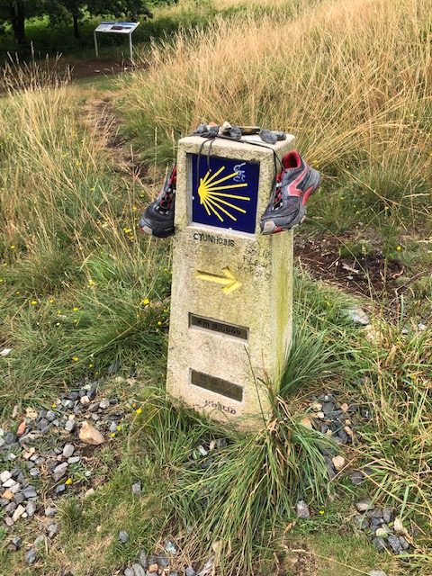 Camino Shoes on signpost
